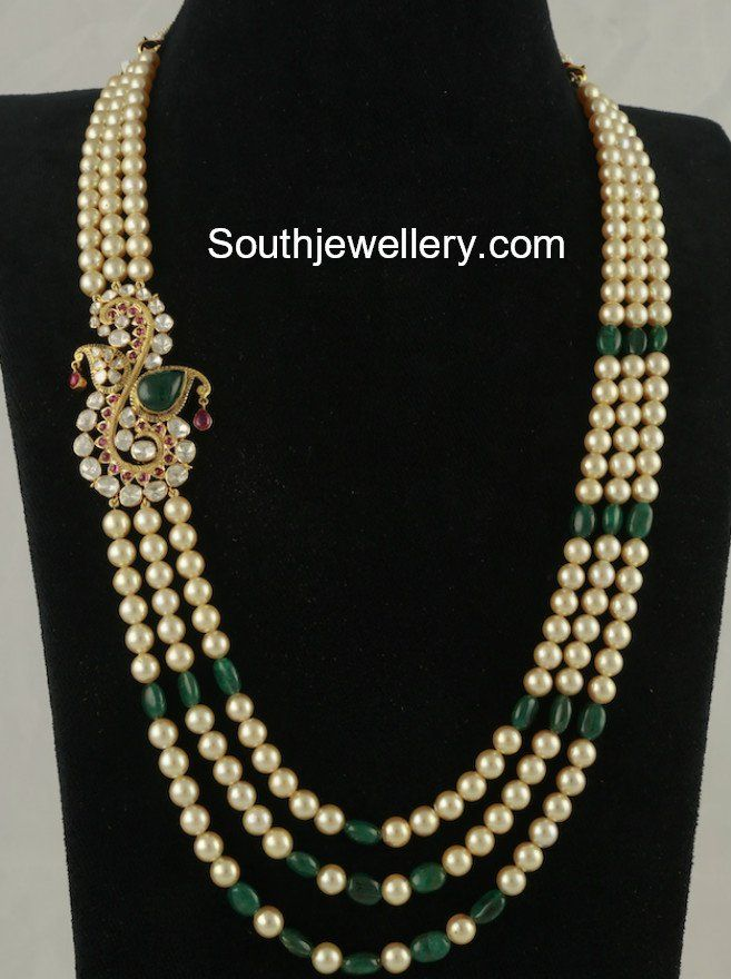 c7d97510a South Sea Pearl Mala with Side Pendant photo | beads in 2019 ...