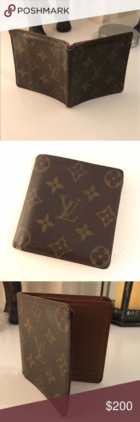 💯 Authentic Louis Vuitton Men's wallet 100% authentic Louis Vuitton men's wallet. Classic monogram. Used condition, slight cracking and tearing on corners as shown in pictures. Completely functional and has a lot of life left. Louis Vuitton Bags Wallets