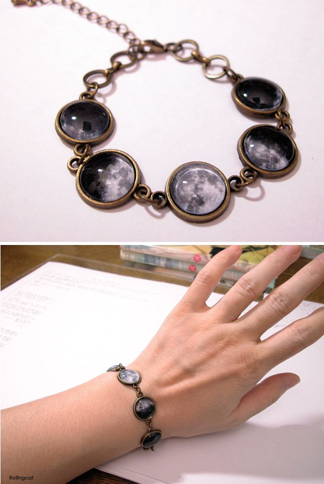 Moon cycles bracelet http://the-nuvo.com/rollingcat