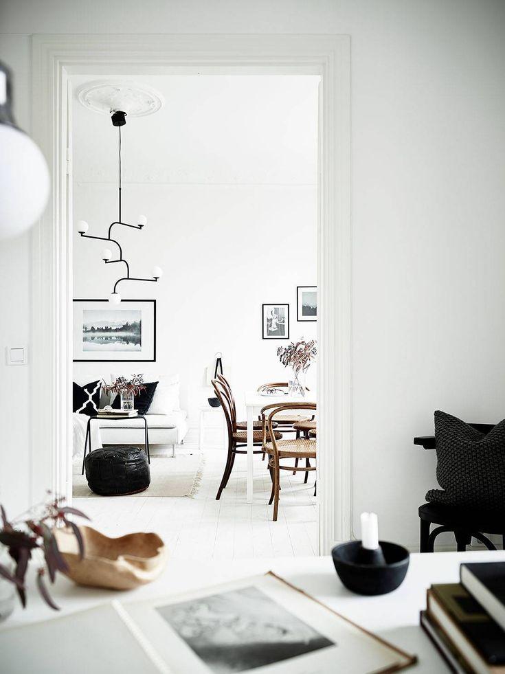 Stylish black and white home Scandinavian InteriorsHome