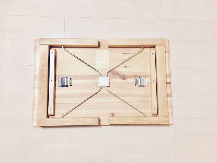【口コミ・評判】コスパ良し!無印良品の定番アイテム「パイン材ローテーブル・折りたたみ式」