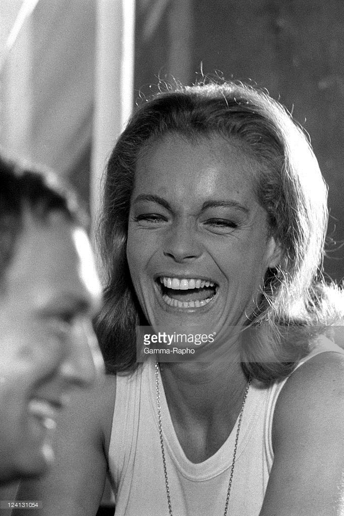 On set of 'La Piscine' directed by Jacques Deray In Saint Tropez, France In August, 1968 - Romy Schneider.