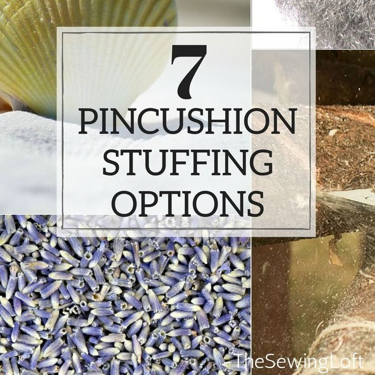 When making a pincushion for yourself, one of the most important things for you to consider your pincushion stuffing. Pros & Cons of each option.