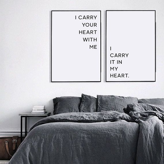 I carry your heart with me, I carry your heart print, Love Print, Love Poem, Above bed decor, Above bed art, Inspirational Print