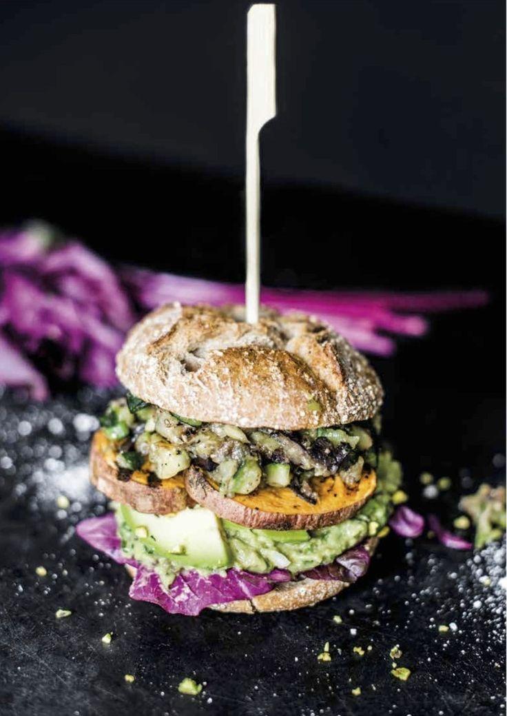 ... nadia damaso cookbook | sweet potato avocado burger with grilled vegetable ...