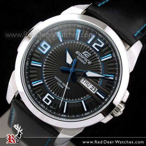 CASIO Watches - Buy Casio Edifice Day Date Genuine Leather Strap Watch  EFR-103L-1A2V 74e6ed098