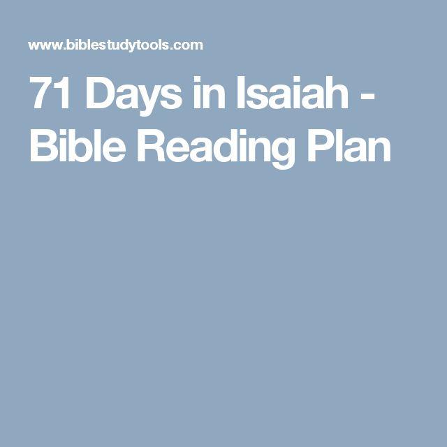 71 Days in Isaiah - Bible Reading Plan