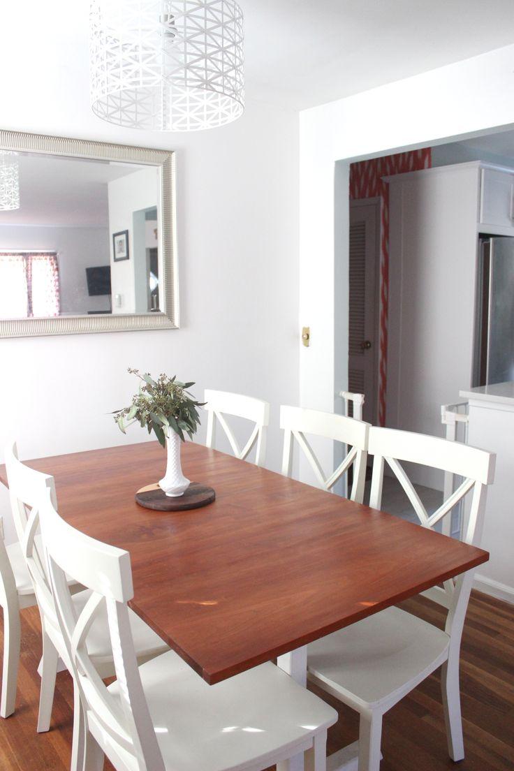 Minimalistic White Dining Room - Progress Photos / Shortbrokeandhappy.com