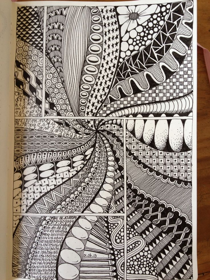 Doodle - comic book grid