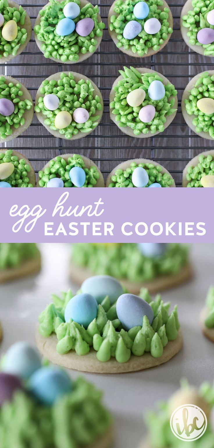 These Egg Hunt Easter Cookies are the perfect #dessert #recipe for #Easter! #sugarcookie #cookie