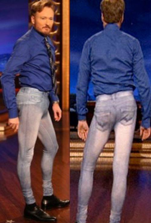 .conan o'brien in Jeggings.... this makes me feel... slightly uncomfortable. it's hilarious, but... awkward..