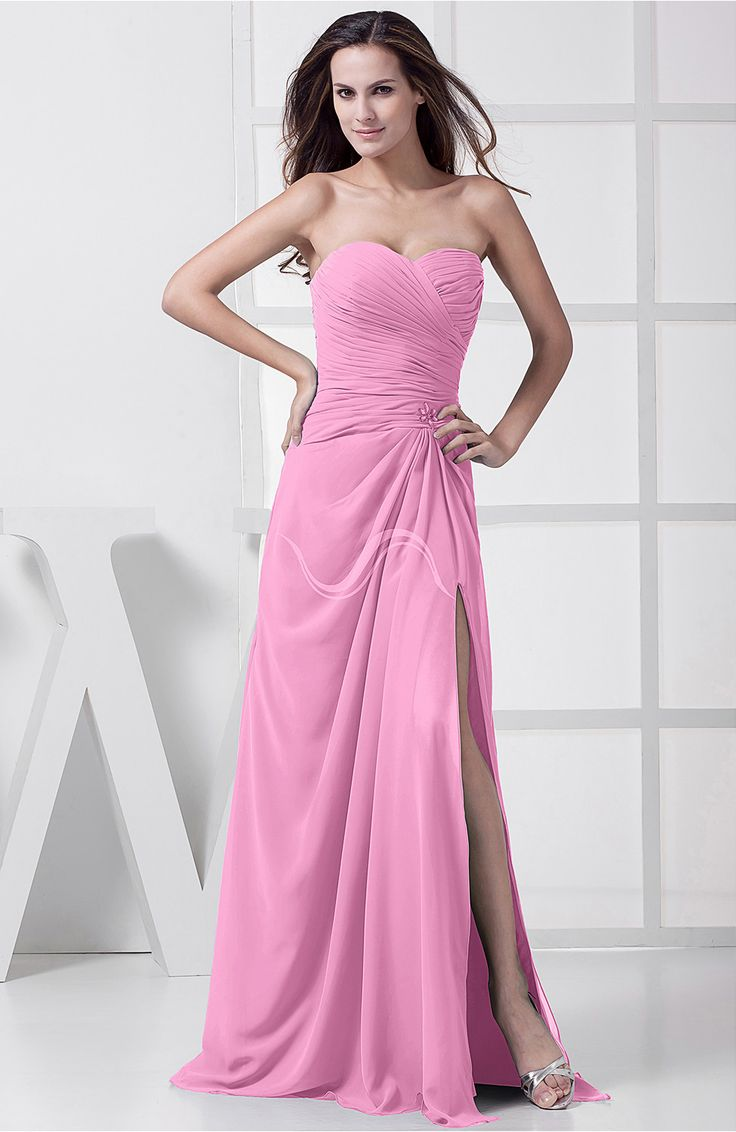 12 best dresses for childrens choir images on pinterest dress pink bridesmaid dress modest a line sweetheart chiffon floor length ombrellifo Image collections