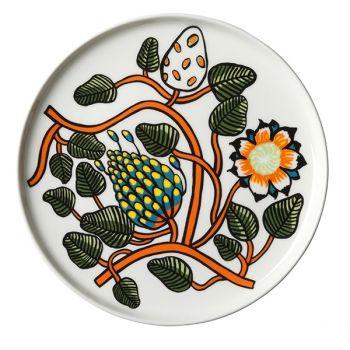 Marimekko's Oiva plate in Tiara pattern, diameter 20 cm