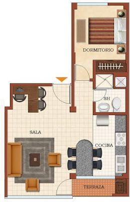 PLANOS DE CASAS GRATIS Y DEPARTAMENTOS EN VENTA: Casas o minidepartamentos menor a 50m2