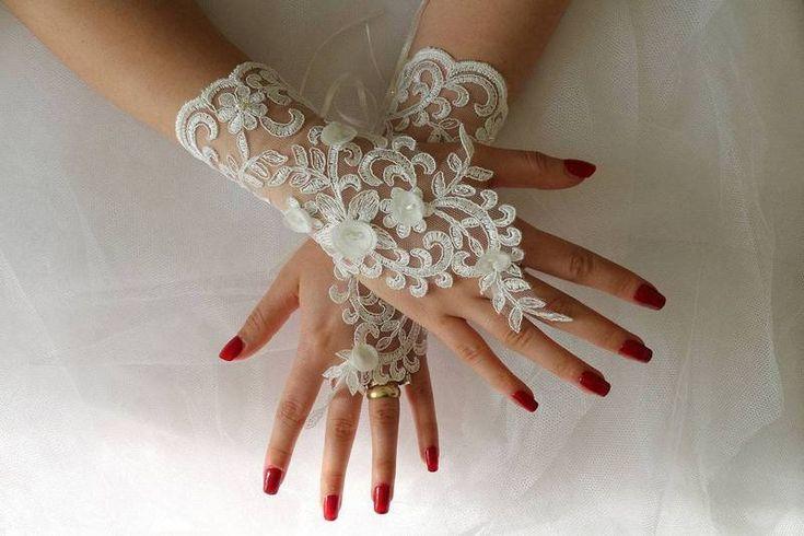 Gloves, Lace Gloves, Fingerless Bridal Gloves İvory Lace Glove Bridal Wedding Day Wedding Dress Accessory ,Long Glove GS00976