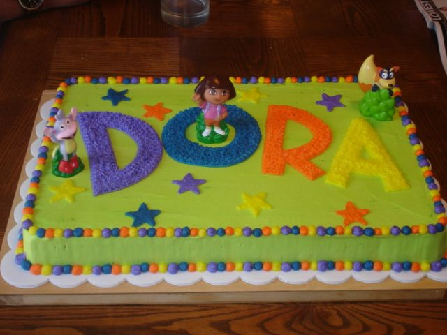 This is such a cute Dora Cake