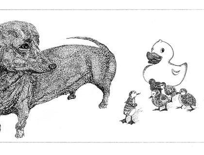 """Follow Me"" Illustration- Gallery Quality Giclée Fine Art Print"