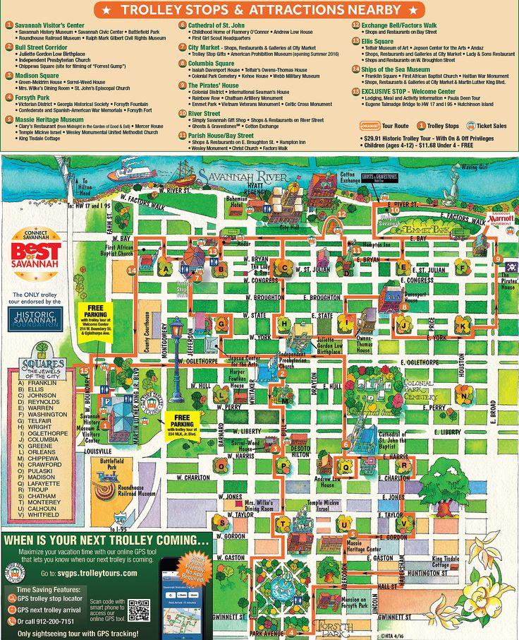 Street map Savannah Georgia