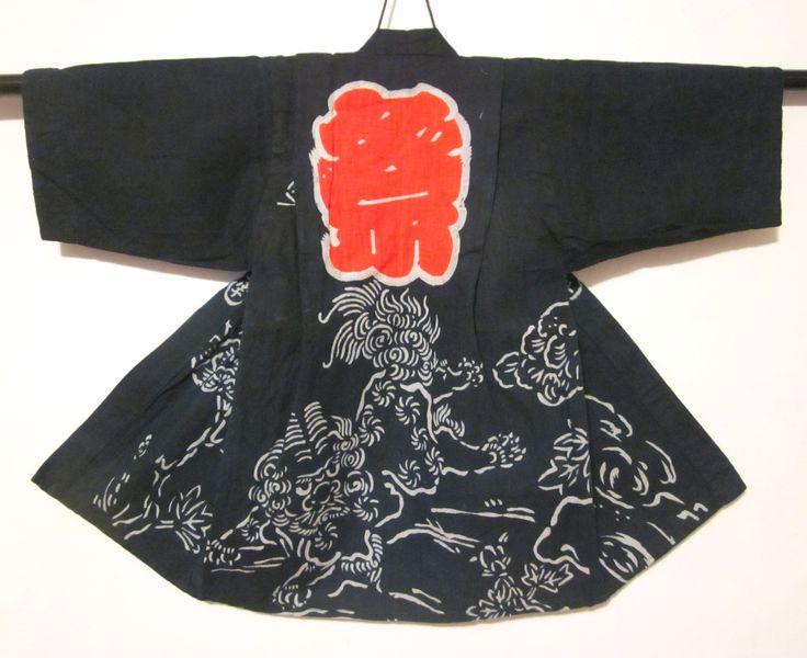 child's festival happi with shishi
