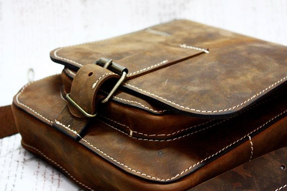 IPad Hounter Leather Bag Ipad Genuine Leather Bag by 74streetbags, $215.00