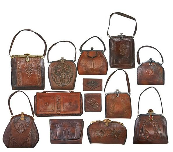Arts crafts thirteen tooled leather purses and wallets for Arts and crafts new york