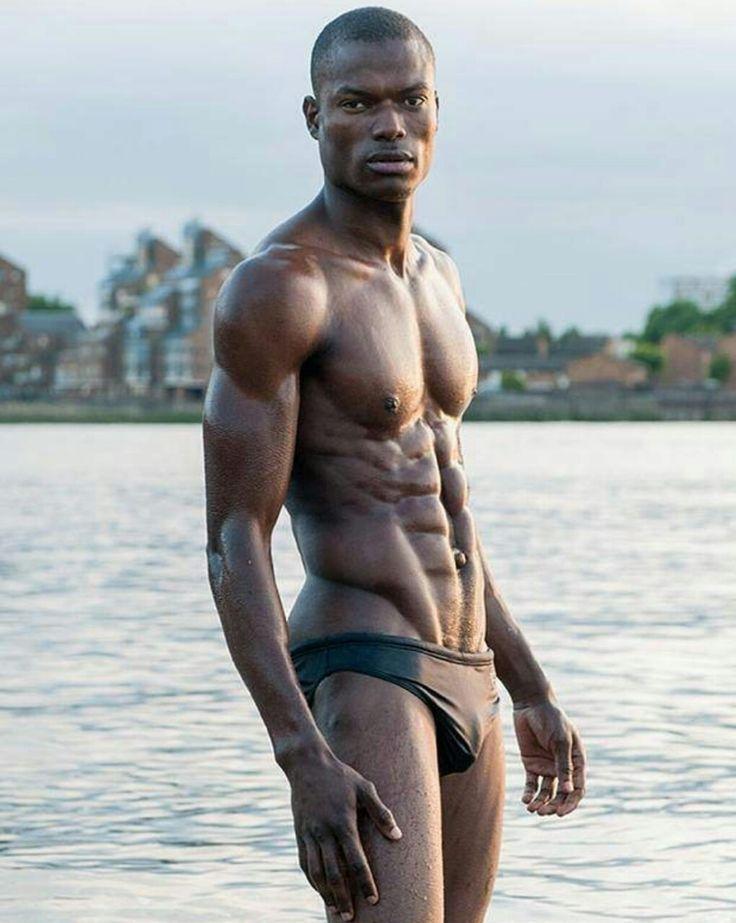 Shirtless black male