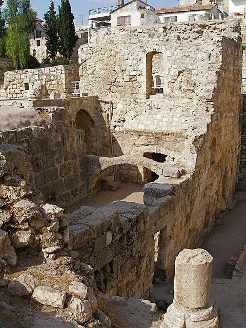 Pools of Bethesda Where Jesus Cured The Blind Man -- Bethesda Is Where Jesus' Maternal Grandparents, Anne & Joachim, Lived