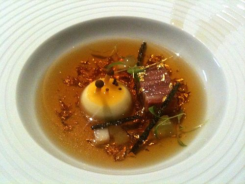 Mock Turtle Soup at The Fat Duck Restaurant Bray, UK