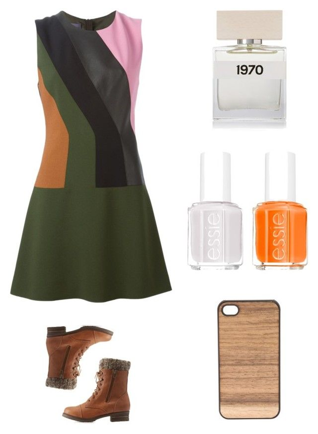 """next to me"" by natalia-rdz2001 ❤ liked on Polyvore featuring Emanuel Ungaro, Charlotte Russe, Essie, Bella Freud and Wood'd"
