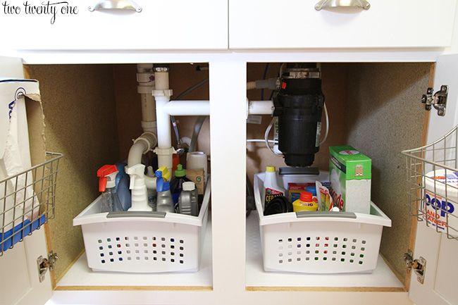Under The Kitchen Sink Organization - Two Twenty One