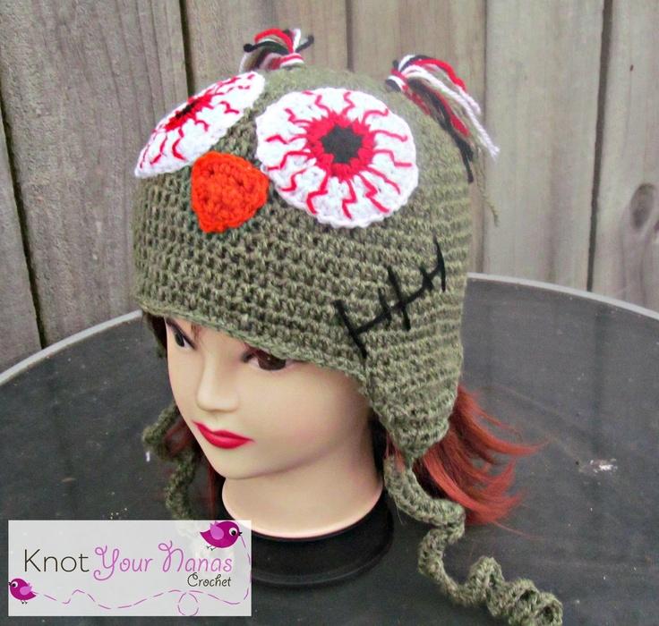 Mejores 31 imágenes de crochet zombie en Pinterest   Sombreros de ...
