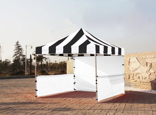 """Eurmax Premium Ez up Canopy Booth Bonus Awning and 4weight Bag(10x10 Feet, Black/white) by Eurmax. $449.95. Wall Side Kit :300 Denier Polyester,Water Resistant,100% UV Protection.wall package includes:One(1)Solid walls + Two(2)1/2walls +Four(4)Weight bag. Frame:Heavy duty Alumix Construction(Frame weight:60.6LBS).Powder Coated,Full Truss Design,Leg size:1.77 inch Hexagon ,Adjustable Height,No Tools Necessary for Setup.. Wheeled bag with 4.7"""" wheels,The Best de..."""