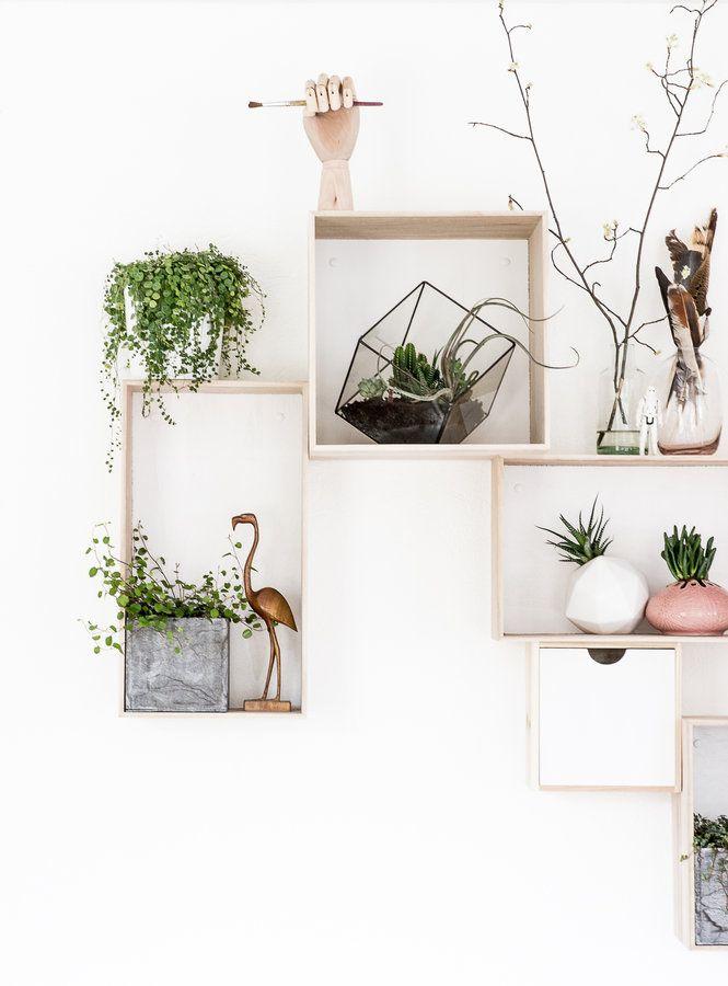 Simple Regale kreativ an der Wand anordnen #Wohnidee