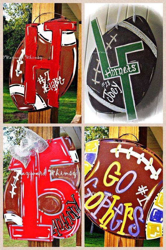 High School football Wood Cut Out Hanger by TheWaywardWhimsy, $35.00