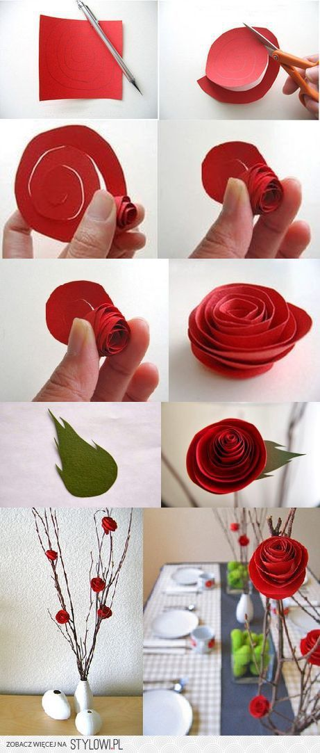 Róża z papieru - krok po kroku