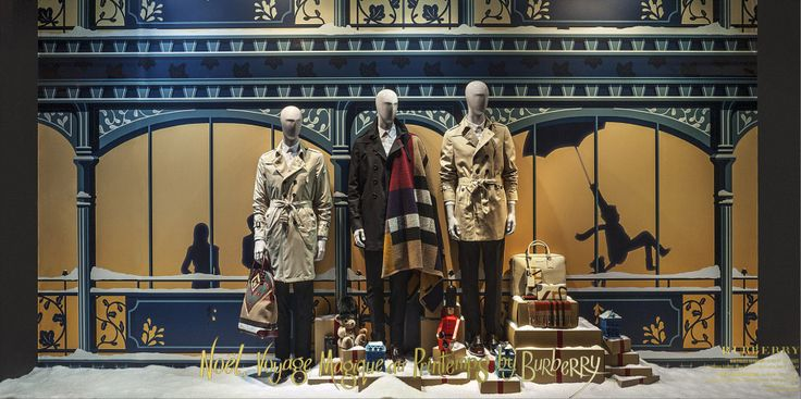Printemps Vitrine Burberry #windows #fashion #luxe