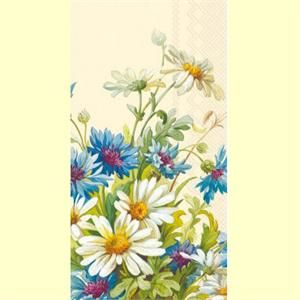 Cornflower and daisy guest towels