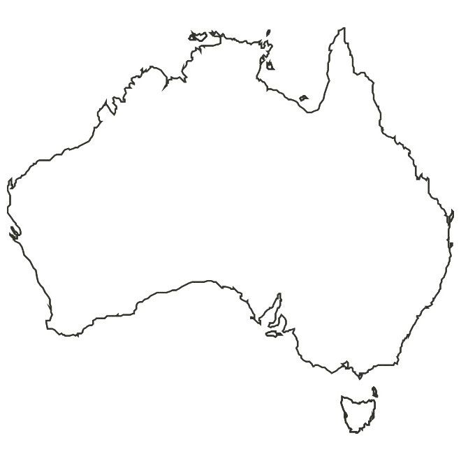 Australia Map Vector Ai.Vector Map Of Australia Maps Australia Map Map Vector