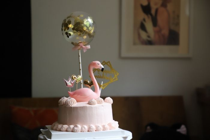 20 Pièces Décoration Fêtes Fournitures de Mariage Cœur Rose Cupcake Toppers Anniversaire