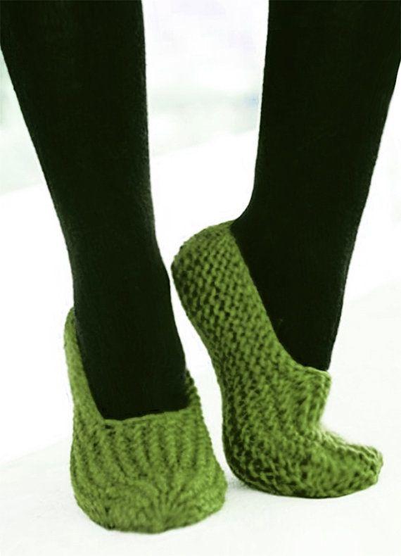 Pantofole donna, Menta maglia pantofole, scarpe, pantofole Casa calzini, Moda Inverno, lavoro a maglia calze verde, regalo per lei da WomanStyleStore