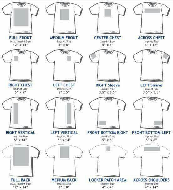 T Shirt Sizing Guide Silhouette Magic Cricut Cricut