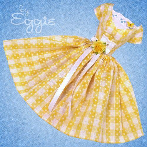 Blooms & Butterflies - Vintage Barbie Doll Dress Reproduction Barbie Clothes