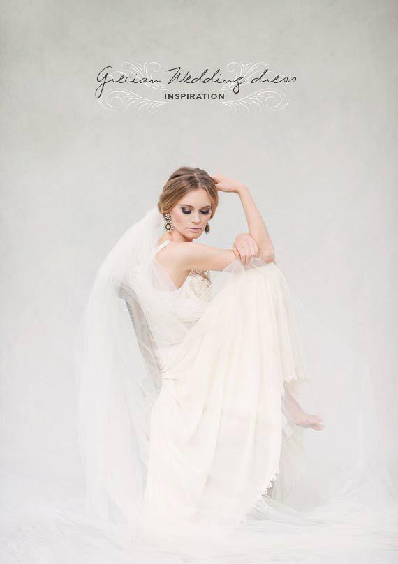 Grecian wedding dress inspiration   photo by Melissa Gidney Photography   100 Layer Cake
