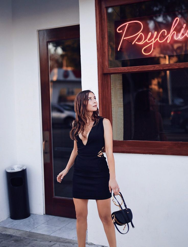debc954efc5 Fashion Diaries  Revolve Around The World Parties in Los Angeles - NBD  Magnolia Lace up Mini Dress in Black worn by Fashion Blogger Julia Comil.  More on ...