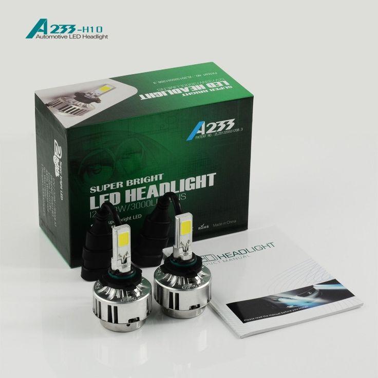 42.40$  Buy now - http://ali6uc.worldwells.pw/go.php?t=32468591844 - 1set H10 66w 12v COB car LED headlight 6000LM  headlamp LED headlight  FOR  Car LED Headlight Fog light Bulb 42.40$