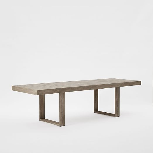 Portside Expandable Dining Table   Weathered Gray | West Elm