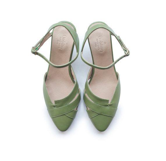 Schuhe Damen Olivgrün Sandalen Damen: Absätze von LieblingShoes
