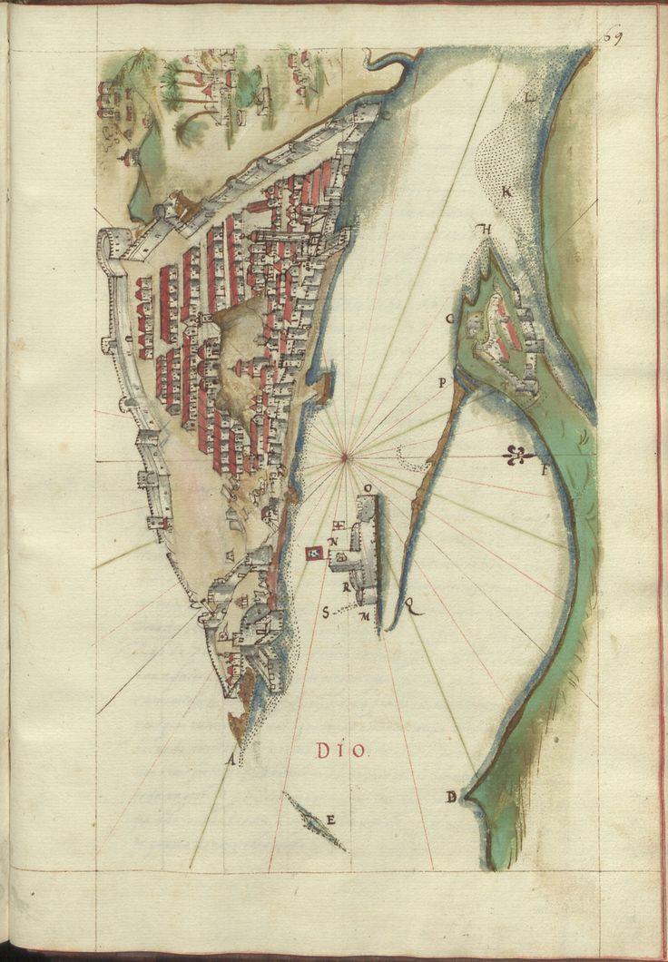 """Cod. 8033 - 0145 --  João de Castro (1500-1548)  """"Roteiro da costa do norte de Goa, ate Dio, no qual se descrevem todos os portos, alturas, sondas, demarcações, diferenças de agulha que ha em toda esta costa"""". [16--]. BNP Cod. 8033"""