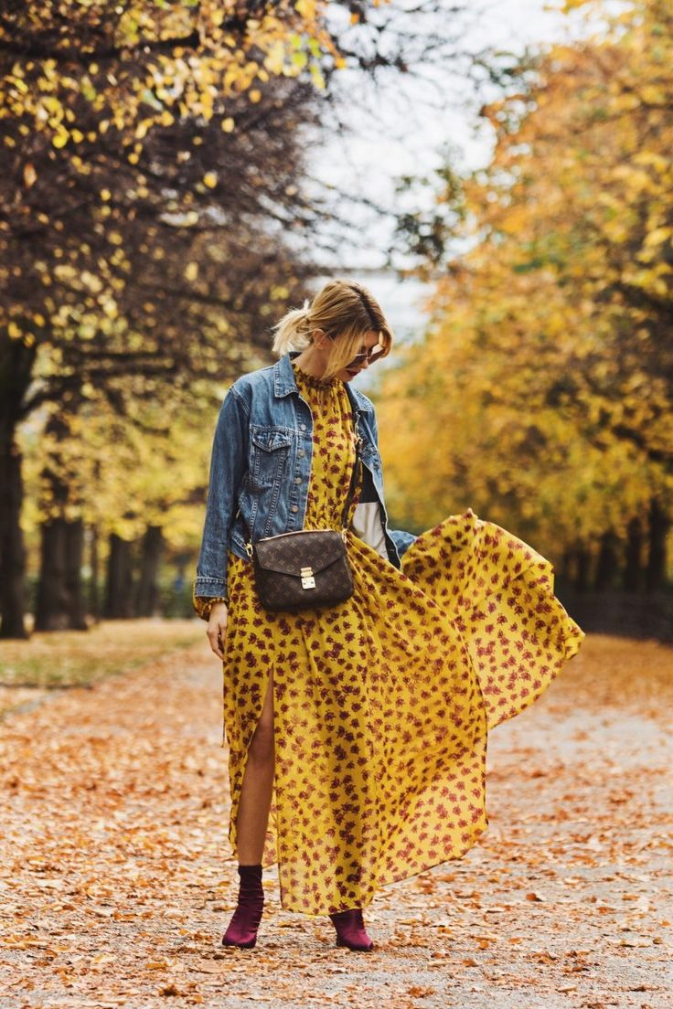 Indian Summer Feeling – Maxikleid und Jeansjacke