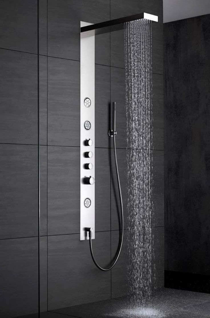 shower column by wallpaper ib robinetterie bathnomy. Black Bedroom Furniture Sets. Home Design Ideas